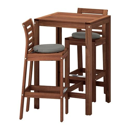 Restoration Hardware Trestle Table, Applaro 692 686 14 Bar Table And 2 Bar Stools Outdoor Brown Stained Froson Duvholmen Dark Gray By Ikea Of Sweden K Hagberg M Hagberg Eva Lilja Lowenhielm