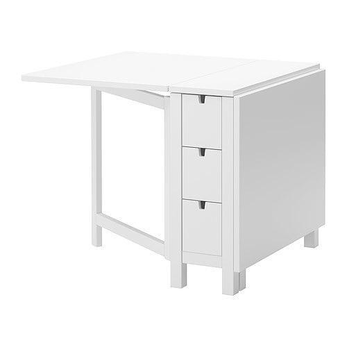Norden 702 902 23 Gateleg Table White By Ikea