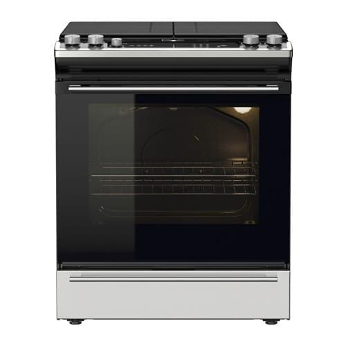 Nutid 802 885 64 Slide In Range With Gas Cooktop Stainless Steel By Ikea Of Sweden